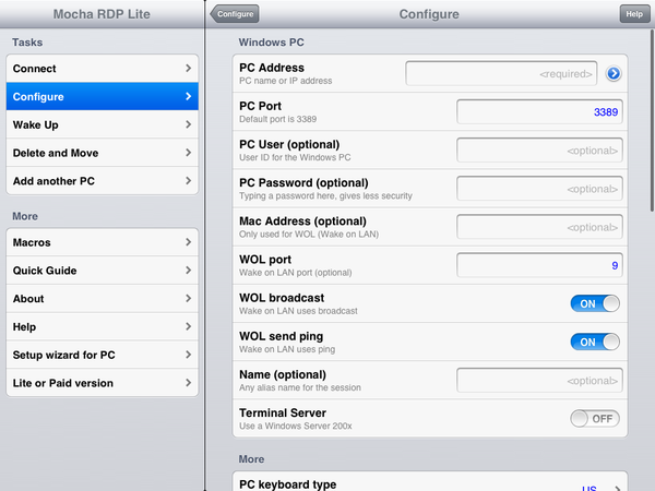 Connecting to a VM from an iPad or iPhone | Skytap help and