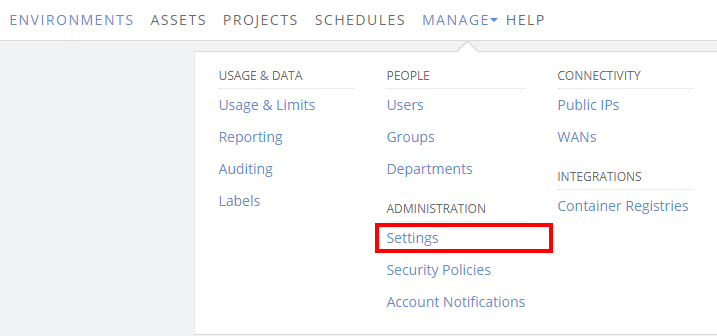 Configuring the webhook service for audit data | Skytap help
