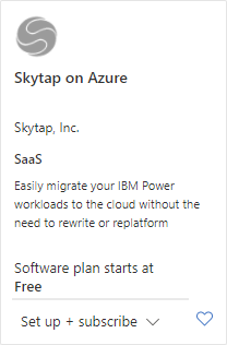 subscribe to Skytap on Azure
