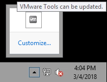 vmware tools running unsupported